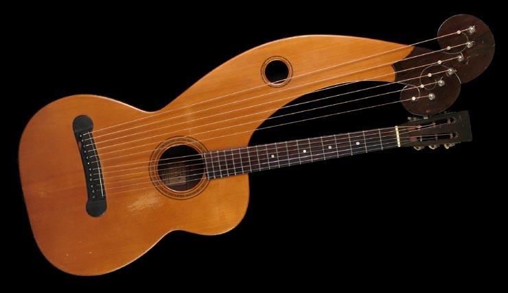 Vintage Dyer Harp Guita Style 4 at Harp Guitar Music