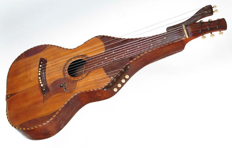 vintage knutsen harp steel hawaiian guitar at harp guitar music. Black Bedroom Furniture Sets. Home Design Ideas